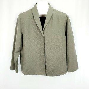 Eileen Fisher  Blazer 100% Silk Textured :D1139